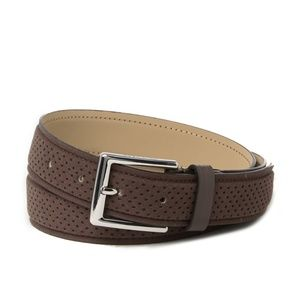 Cole Haan 32MM Standard Strap Java Perforated Belt